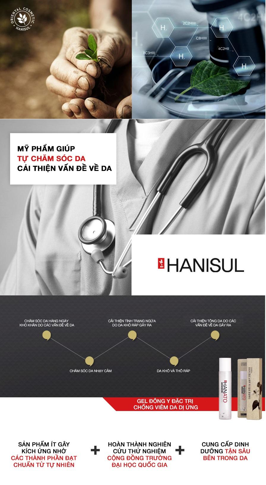 Gel Đông y đặc trị chống viêm da dị ứng Hanato Gel Mist Ato đồng nghiên cứu và sáng tạo bởi đội ngũ bác sĩ đông y hàng đầu tại Hàn Quốc giúp giải cứu những làn khó tính nhất, hiệu quả sử dụng cao để trả lại cho con người nét đẹp tự nhiên của làn da