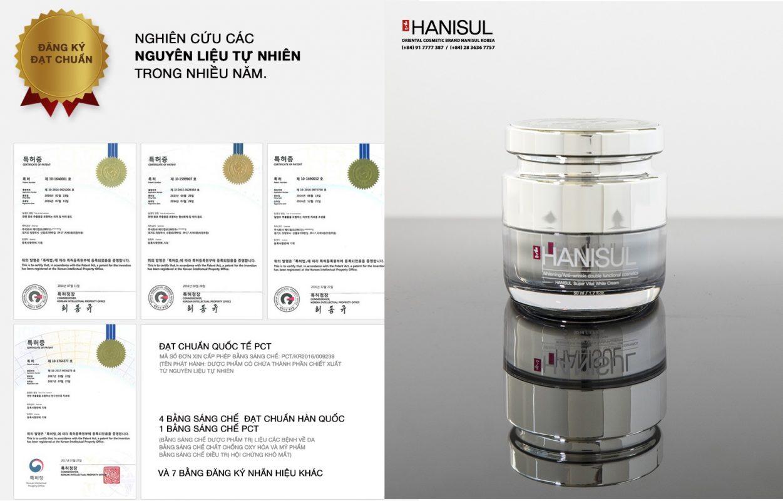 Hanisul Super Vital White Cream gồm các thành phần nguồn gốc thảo mộc quý hiếm được nghiên cứu trong nhiều năm