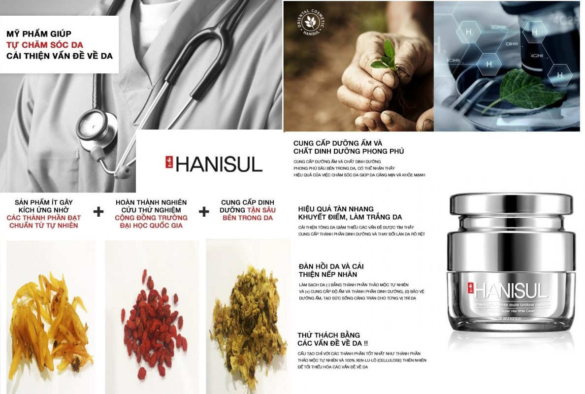 Hanisul Super Vital White Cream – mỹ phẩm được nghiên cứu và thử nghiệm thành công, hiệu quả trên nhiều loại da, vô hại tuyệt đối cho làn da người sử dụng