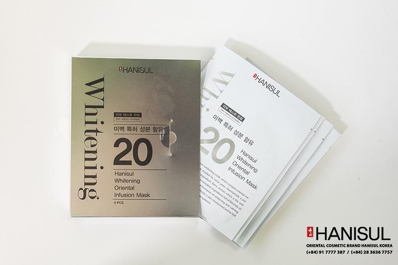 Mặt Nạ Đông Y Dưỡng Trắng - Hanisul Whitening Oriental Infusion Mask cao cấp,chăm sóc và nuôi dưỡng làn da hiệu quả, an toàn