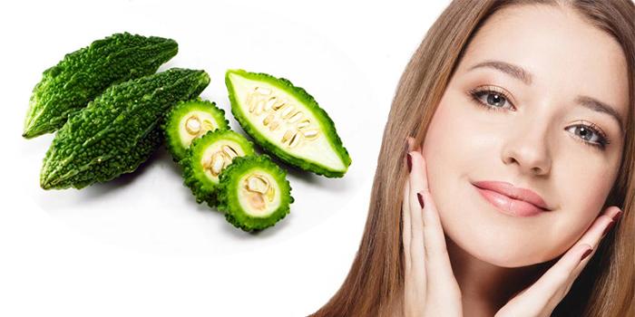 Mặt nạ dưỡng trắng trị mụn từ khổ qua (mướp đắng) giúp da mặt  loại bỏ các  vết mụn thâm cứng đầu